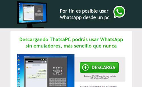 El timo del 'WhatsApp para PC'