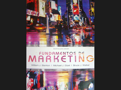 Libro 'Fundamentos del marketing' de William J. Stanton, Michael J. Etzel y Bruce J. Walker